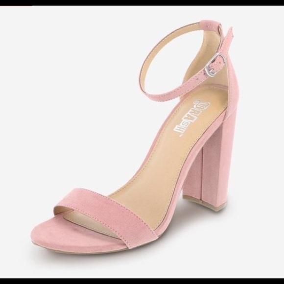 Brash Shoes | Light Pink Suede Heel